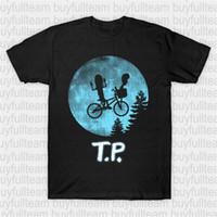 mond fahrrad großhandel-T. P.-T-Shirt Beavis and Butt-head, Fahrrad, Comic, E.T., E.T.the Extra-Terrestrial, ET, Mond, Film, MTV, Parodie, TV gedruckt beiläufige Art und Weise Round N