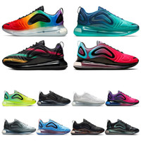 laufschuh schwarz grün großhandel-nike air max 720 2019 TOP Laufschuhe für Herren Be True Pride GREEN CARBON Volttriple weiß schwarz Northern Lights Damen Sport Sneaker Größe 36-45