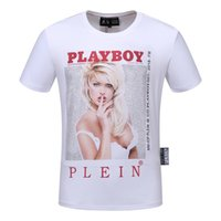 Wholesale stamp for sale - 2019 Printed Phillip Plain new tide brand skull and Pure cotton pp skull stamp short sleeved T shirt