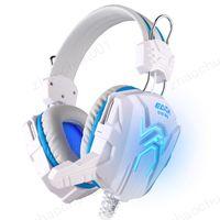 auriculares de alta calidad para pc al por mayor-Alta calidad para computadora Estéreo Gaming Headphones Best casque Deep Bass Game Auricular con micrófono con luz LED para PC Gamer