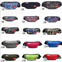 Wholesale camping bags online - 15styles Sup Waist Bag Shoulder pack letter Belt Bag Handbag Mobile phone jogging Zipper Storage Bags Wallet sport coin bags FFA1776