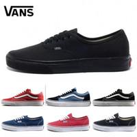 ван обувь красного оптовых-Новый 36-44 Ван старый skool SOFT Оригинальный Бренд Кроссовки повседневная обувь черный синий красный Классические мужские женские холст кроссовки Cool Skateboarding shoes