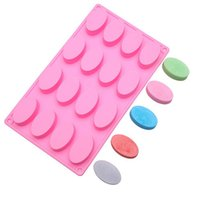 Wholesale rectangle soap mould resale online - DIY Cake Soap Mould Handmade Cake Silicone Mold Baking Set Cavity Rectangle Cavity Oval Shaped Kitchen Bakeware