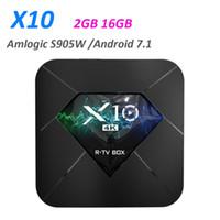 Wholesale android os smart tv box resale online - Smart TV Box X10 S905W Quad core GB GB Android OS WIFI H HDR D K Set Top Box Media Player PK X96 mini