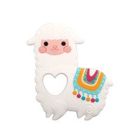 Alpaca Silicone Teether BPA Free Chewable Baby Cat Teething Toy Infant Newborn Nursing Gifts Baby Toys Silicone Sheep Teether