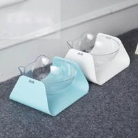köpekler kase yüksek toptan satış-Ayarlanabilir Eğim Bağlantı Pet Kedi Köpek Köpek Bowl Bulaşık Su Besleyici Plastik Kaseler Yüksek Grade Kaymaz Pet Bowl