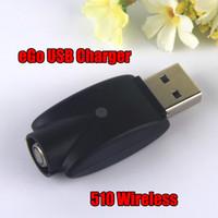 ego ce5 vape pen großhandel-510 Portable Wireless USB Kabel EGO Ladegerät für Open CE4 CE5 CE6 EGO-T EVOD Twist Vision Spin Vape Stift Batterie E