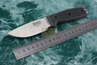 meilleur petit couteau de camping achat en gros de-Meilleur couteau de survie EDC ESEE3 Rowen petite lame fixe extérieure D2 en acier G10 / Micarta poignée Camping Couteau Outil De Chasse Cadeau Couteaux