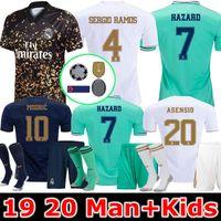 xxl real madrid jersey venda por atacado-2020 Real Madrid Hazard jérsei de futebol 2019 2020 madrid jerseys BENZEMA SERGIO RAMOS Kroos 19 20 camisas de futebol reais maillot real madrid