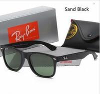 Wholesale boys glasses resale online - 2019 Matte frame green lens Brand Sunglasses Vintage Pilot wayfarer Sun Glasses Bans UV400 Men Women Ben mm mm With Case