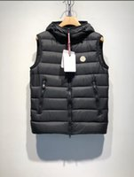ingrosso giacche soffice-New Fashion Fluffy Duck Down Vest Chopping Mens Designer Giacche Warm di alta qualità Luxury Hooded Thin and Light Designer Vest Plus Size 1-5