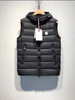 chalecos esponjosos al por mayor-Nueva moda Fluffy Duck Down Vest Chopping Chaquetas de diseñador para hombre Cálido de alta calidad de lujo con capucha delgado y ligero diseñador chaleco más el tamaño 1-5