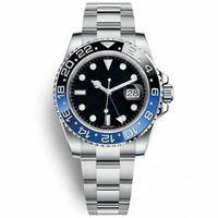 синие мужские часы оптовых-1 Batman Watch Men 40 мм с автоподзаводом Механические с автоматическим подзаводом Черно-синие часы Керамическая рамка Мужская планка с наручным замком Наручные часы Регулируемая застежка