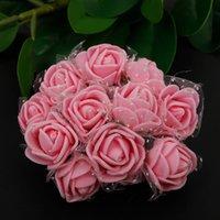Wholesale mini foam wreaths for sale - Group buy 144pcs cm Mini Foam Rose Artificial Flower Bouquet Wedding Flower Decoration Scrapbooking DIY Wreath Cheap Fake Rose Flowers