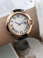 kızlar için deri saatler toptan satış-Yeni Geldi Ünlü Marka Kadınlar İzle Montre Moda Deri Kuvars Saatler Kadınlar Için Lüks Saatler Lady saat Kız En Iyi Hediye