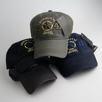 boné de homens de moda do exército venda por atacado-Moda Exército Verde Jeep Hat Mulheres Homens Carta de Impressão de Beisebol Golf Cap Esporte JEEP Bordado Bola Chapéu TTA1284