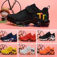 ingrosso confezioni regalo per il compleanno-Nike Mercurial Air Max Plus Tn bambini TN Scarpe da corsa ragazzi ragazze Solar Pack Nero Giallo PW HU HOLI Pharrell Williams Bambini Sneakers bambino regalo di compleanno 26-35