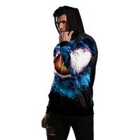 sweatshirt punk toptan satış-Kara Delik Spor Hoodie Rahat Erkekler Yüksek Sokak Kazak Hip Hop Yenilik Komik Baskı Kazak Erkekler Harajuku Punk Rock Hoodies