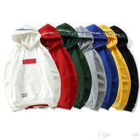 hoodie trend moda toptan satış-Yeni marka tasarımcısı hoodie Suprême ortak Şampiyonlar nakış hoodeds eğilim moda kadın erkek kazak klasik lüks kazak gevşek rahat