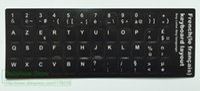 12-дюймовая наклейка оптовых-50pcs/lot French Keyboard Sticker Franch AZERTY For laptop keyboards Stickers 11.6 12 13.3 14 15.4 17.3 inch or desktop keyboard
