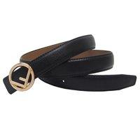 ceinture boucle cuir western achat en gros de-jeans des jeunes occidentaux jupe dame ceinture en cuir véritable noir F boucle de mode maigre femmes bracelet en cuir
