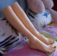 ingrosso bambole reali silicone sexy-40 cm reale femminile lungo sexy bambola piede manichino sangue vesse silicone fotografia calze di seta gioielli modello morbido gel di silice 1 pz c743