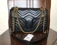 Wholesale women sling chain bag for sale - Group buy High quality hot classic fashion designer PU leather shoulder bag ladies chain tassel slung shoulder bag handbag free