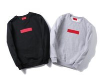 американские фирменные свитера оптовых-19ss Мужская дизайнерский свитер Европа Франция Париж American Fashion женская толстовка Черный толстовка с длинным рукавом марки повседневная хип-хоп S-XXL
