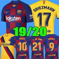 ingrosso nuovi kit da calcio per bambini-Barcelona Maglia da calcio 2019 2020 Barcellona DE JONG Maglia da calcio Lionel MESSI Maglia da calcio Rakitic new 19 20 kits