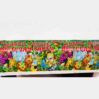 animais da selva bebê venda por atacado-1 PCS Festa de Aniversário Crianças Favores Selva Animais Tema Plástico Tablecover Baby Shower Partido Leão Toalha De Mesa Decoração Suprimentos