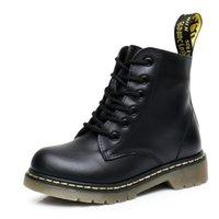kinder-mode schuhe stiefel groihandel-Martin Boots Kids Winter echtes Leder Plüsch-Schnee-Aufladungen für Mädchen Jungen beiläufige Gehen Freizeit Outdoor Knöchelkleinkind-Schuhe