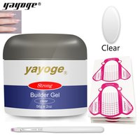 Wholesale Yayoge Poly Gel Kit Poly Builder Gel g with Adhesive Nail Forms paper brush Nail Enhancement Builder