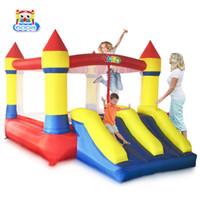 ingrosso bouncers del ponticello-I giocattoli del trampolino del castello del saltatore dei buttafuori gonfiabili del castello di rimbalzo di YARD fanno scorrere con il ventilatore