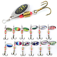Wholesale fishing spinners resale online - 10pcs Multicolor cm g Spinner Fishing Hooks Fishhooks Hook Metal Baits Lures Artificial Bait Pesca Fishing Tackle Accessories