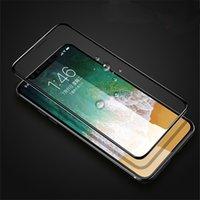 cristal claro delantero iphone al por mayor-Para el iphone 11 11Pro 11Pro Max película de pantalla frontal 6D completa de vidrio templado Protector claro Transparnt película para el iPhone X Xr X X Max 8 7 6