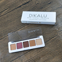 Wholesale mini makeup for sale - Group buy High Quality Newest Arrival Makeup Fit Fashion DIKALU mini sunset Eyeshadow palette Colors Eyeshadow Palette