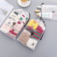 Wholesale drawstring shoe storage bags for sale - Group buy 1 New Waterproof Travel Packing Cute cat Storage bag Suit Clothing shoes Drawstring storage bag Fashion Style
