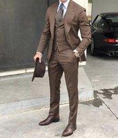 Wholesale british navy buttons for sale - Group buy 2020 Classy British Wedding Tuxedos Mens Suits Slim Fit Peaked Lapel Prom BestMan Groomsmen Blazer Designs Jacket Pants Tie Vest