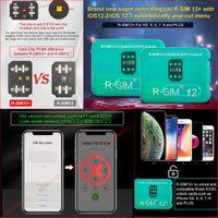 ingrosso apple r-RSIM12 + Perfect Unlock Per ISO 12.3 R-sim 12+ SIM card originale Sblocco ICCID per Iphone XS X 8 7 VS R-SIM 14
