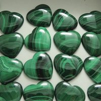 Wholesale natural malachite jewelry for sale - Group buy 7pcs Natural Malachite Crystal Heart Pendant Crystal Heart Reiki Healing Chakra Stone And DIY Making Jewelry Wedding Decoration