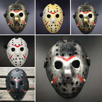 costumes jason achat en gros de-Horreur Cosplay Costume Vendredi 13 7 Jason Voorhees 1 Piece Costume Latex Masque de hockey Vorhees