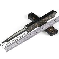 cuchillos de bolsillo micro al por mayor-MICRO - TECH Cuchillo automático de camuflaje de diamante UTX-70 440 MT cuchillo de acción cuchillos de corte táctico Cuchillos plegables Cuchillos de bolsillo UTX A07
