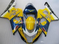Wholesale yellow k5 fairing for sale - Group buy High quality fairing kit for SUZUKI GSXR600 GSXR750 yellow blue white GSXR K4 K5 fairings FD21