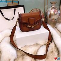 Wholesale fashion handbag designer black for sale - Group buy designer luxury handbags purses crossbody messenger bags good quality leather classical style saddle bag dust bag box