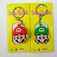 Wholesale finishing gel for sale - Group buy Super Mario Keychain Game Toys Action Figures Red Green PVC Pendant Silica Gel Creative Cartoon zs F1