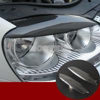 Carbon Fiber Headlight Eye Lid Eyebrow Cover For VW Golf 5 GTI R32 MK5 2005-2007