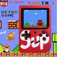 мини-цветные коробки оптовых-New Red SUP игры консоли Mini Handheld Game Box Портативный Классический игрок видеоигры 3,0-дюймовый цветной дисплей 400 игр AV-выход