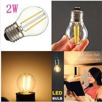 iluminação globo de substituição venda por atacado-Lâmpadas LED G45 2W pode ser escurecido 110V / 220V Lâmpada LED E12 / E14 / E17 / E26 / E27 / B15 / B22 Soquete Soft White Globe Lâmpada 15 Watts Substituição LLFA