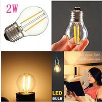 ingrosso illuminazione del globo di sostituzione-Lampadine a LED G45 2W Dimmerabile 110V / 220V Lampadina a LED E12 / E14 / E17 / E26 / E27 / B15 / B22 Lampadina a globo bianco morbido con lampadina 15 Watt di ricambio LLFA