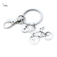 Wholesale idea charms resale online - Bicycle Keychain Bike Charm keyring Personalized Charm Cyclist Gift Idea Bike Bicycle Accessory Cyclist Lover